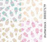 cupcakes seamless. | Shutterstock .eps vector #300327179