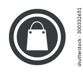 image of shopping bag in circle ...
