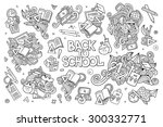 school and education doodles... | Shutterstock .eps vector #300332771