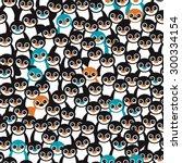 seamless little retro black and ... | Shutterstock .eps vector #300334154