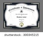 diploma certificate template...   Shutterstock .eps vector #300345215