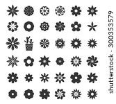 set of flower icons vector eps... | Shutterstock .eps vector #300353579