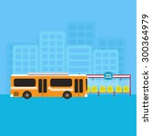 bus public transportation and... | Shutterstock .eps vector #300364979