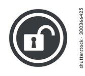 image of open padlock in circle ...