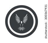 image of flying bird in circle  ...