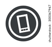image of smartphone in circle ...