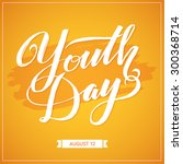 stylish poster  banner of flyer ... | Shutterstock .eps vector #300368714