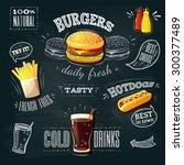 Chalkboard Fastfood Ads  ...