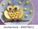 Owl Sandwich With Peanut Butte...