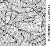 zentangle wavy seamless pattern.... | Shutterstock .eps vector #300384161