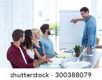 casual businessman giving a... | Shutterstock . vector #300388079