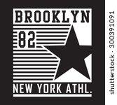 athletic sport new york... | Shutterstock .eps vector #300391091