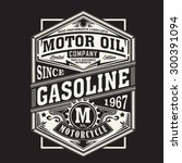Stock vector motor gasoline typography t shirt graphics vectors 300391094