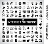 internet of things icons ... | Shutterstock .eps vector #300391331