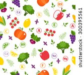 seamless pattern with... | Shutterstock .eps vector #300395561