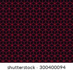 seamless red and black... | Shutterstock .eps vector #300400094