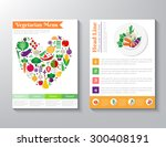 brochure flyer design vector... | Shutterstock .eps vector #300408191