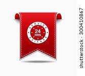 24 hours service red vector... | Shutterstock .eps vector #300410867