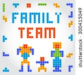 22familyteam crafted retro... | Shutterstock .eps vector #300415049