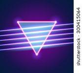 bright neon lines background... | Shutterstock .eps vector #300415064