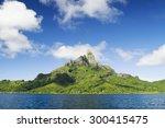 mount otemanu and mount pahia...   Shutterstock . vector #300415475