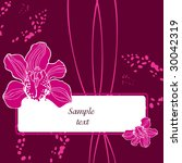 postal with orchids | Shutterstock .eps vector #30042319