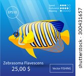 vector flat tropical reef fish... | Shutterstock .eps vector #300431657