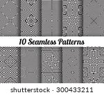 set of 10 abstract patterns.... | Shutterstock .eps vector #300433211