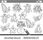 black and white cartoon vector... | Shutterstock .eps vector #300443615