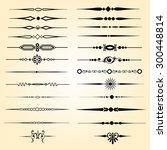 text dividers design elements | Shutterstock .eps vector #300448814