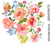 card template with watercolor... | Shutterstock . vector #300459875