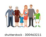 big happy family. father ...   Shutterstock .eps vector #300463211