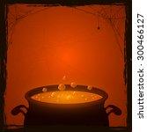 halloween background with... | Shutterstock .eps vector #300466127