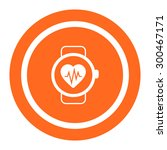 icon of watch with heart rate... | Shutterstock .eps vector #300467171