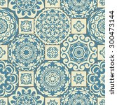 seamless patchwork pattern from ... | Shutterstock .eps vector #300473144