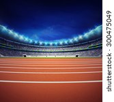 athletics stadium with track at ... | Shutterstock . vector #300475049