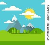 vector summer or spring...   Shutterstock .eps vector #300483299