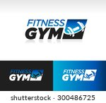 gym fitness barbell logo icon...