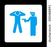 arrest icon. this flat rounded... | Shutterstock .eps vector #300488891