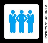 team icon. this flat rounded... | Shutterstock .eps vector #300489455