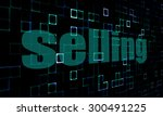 pixelated words selling on... | Shutterstock . vector #300491225