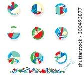 avangarde papper art | Shutterstock .eps vector #300493877