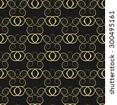 gold pattern from curls on a... | Shutterstock .eps vector #300495161