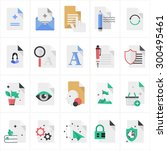 vector icon set in a modern...