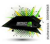 abstract triangle banner.... | Shutterstock .eps vector #300498065