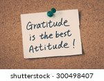 gratitude is the best attitude | Shutterstock . vector #300498407