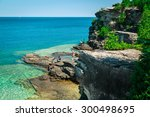 bruce peninsula at cyprus lake ... | Shutterstock . vector #300498695