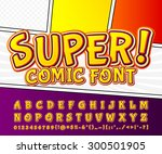 creative high detail comic font.... | Shutterstock .eps vector #300501905