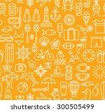 summer seamless pattern. linear ... | Shutterstock .eps vector #300505499
