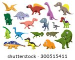 Cretaceous Dinosaurs Cartoon...